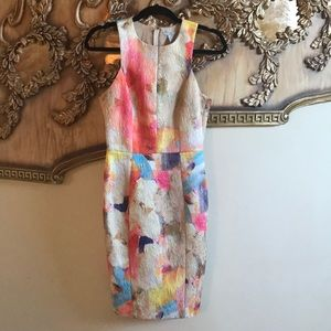 H&M form fitting watercolor dress!